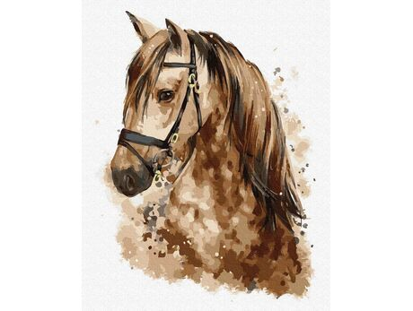 Beautiful horse paint by numbers