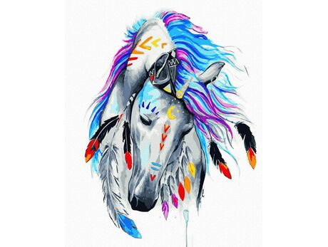 Unicorn with the moon paint by numbers
