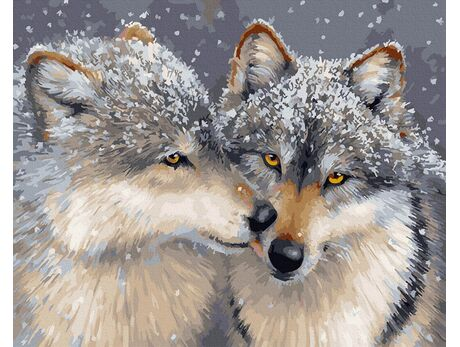 Wolf devotion paint by numbers