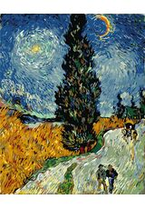 Road with Cypresses and a Star (Van Gogh)