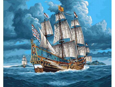 Tall ship paint by numbers