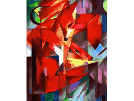 The Foxes (Franz Marc) paint by numbers