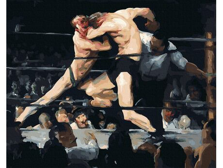 Stag at Sharkey's (George Bellows) paint by numbers