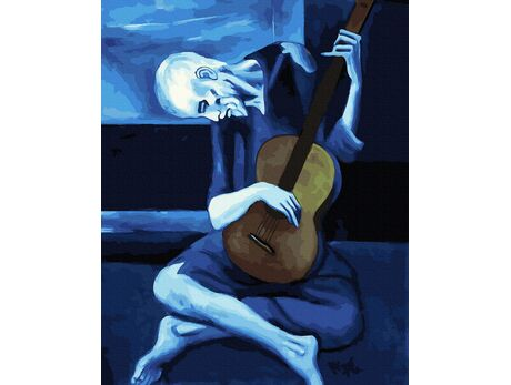 The Old Guitarist (Pablo Picasso) paint by numbers
