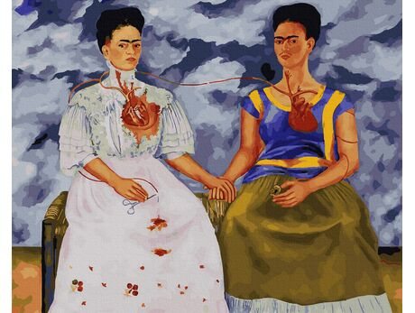 The Two Fridas (Frida Kahlo) paint by numbers