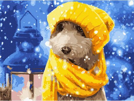 Snow doggy paint by numbers