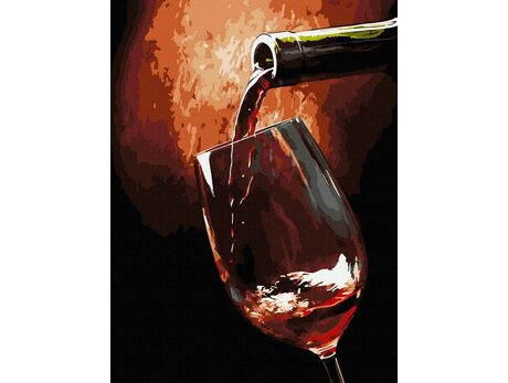 Glass of wine paint by numbers
