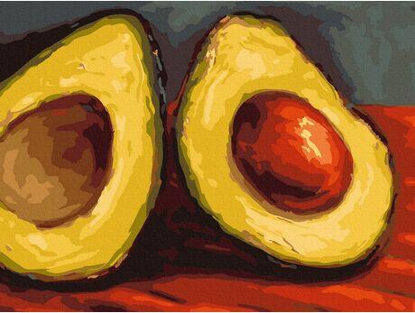 Juicy Avocado (Van Gogh) paint by numbers
