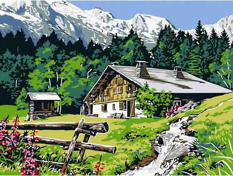 Rest in theTatra Mountains paint by numbers