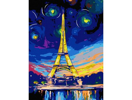 Eiffel tower in another dimension paint by numbers