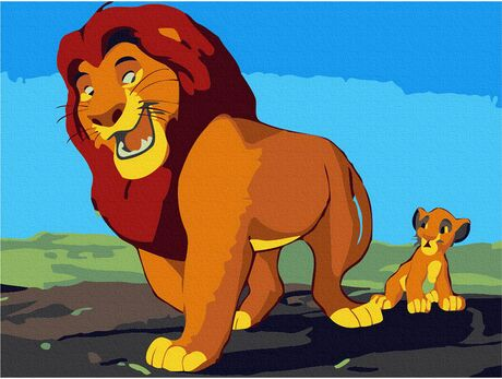 Mufasa and Simba paint by numbers