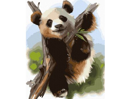 Bamboo bear paint by numbers