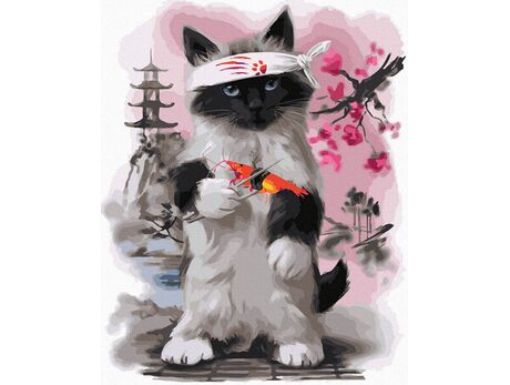 Sushi Cat paint by numbers