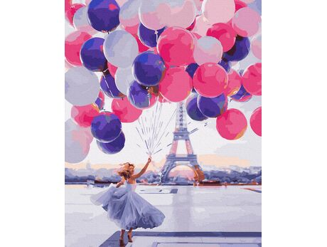 Lifted in the Paris sky paint by numbers