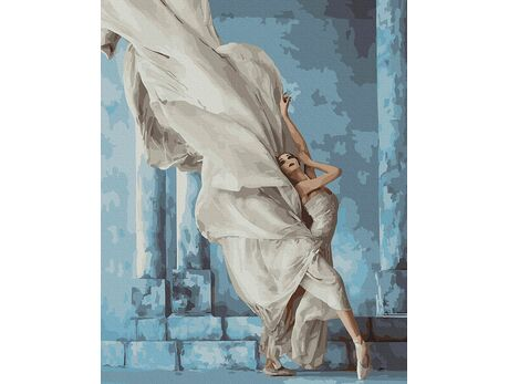 Mysterious ballerina paint by numbers