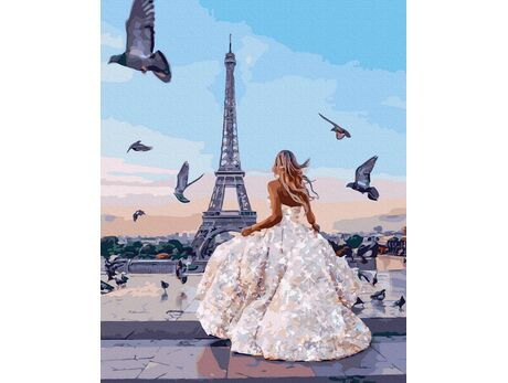 Parisian pigeons paint by numbers