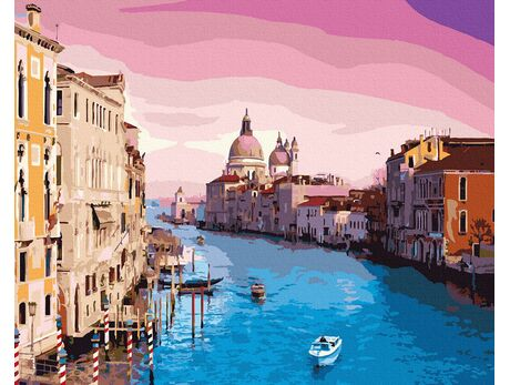 Magic sky in Venice paint by numbers