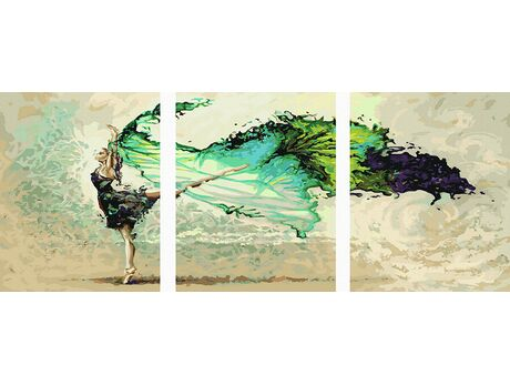 A thrilling dance paint by numbers