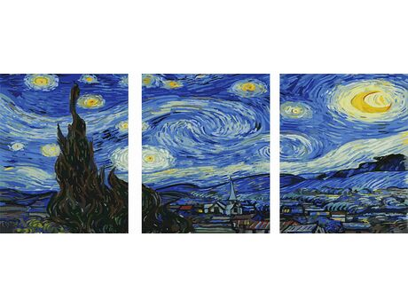 Starry Night - Vincent Van Gogh paint by numbers