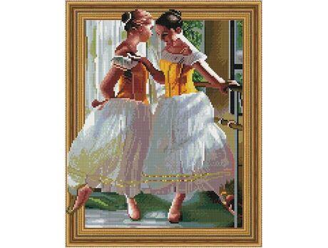 Beautiful young ballerinas diamond painting