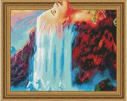 Woman waterfall