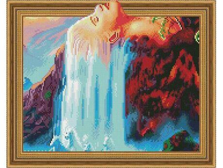 Woman waterfall diamond painting